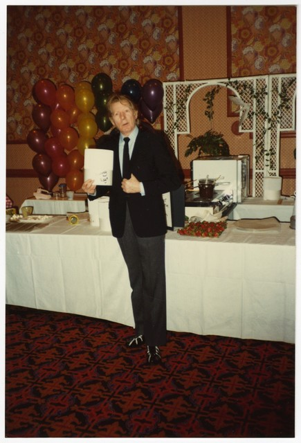 [ Danny Kaye at a Celebrity Chef Cook-Off, 1982]