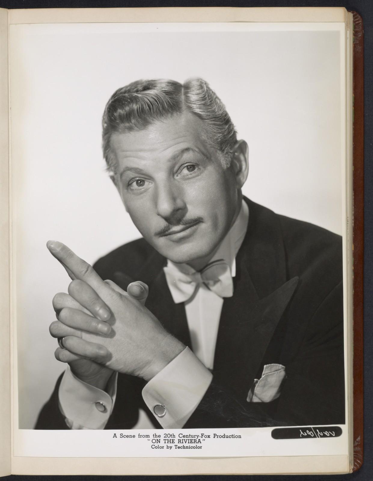 "[ Danny Kaye headshot - from ""On the Riviera""]"