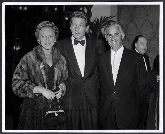 Danny Kaye, Mr. and Mrs. S.A. Schwartz, President RKO Theatres Corp.
