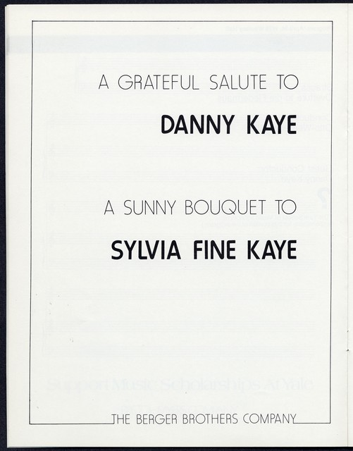 Danny Kaye/The Philharmonia Orchestra of Yale