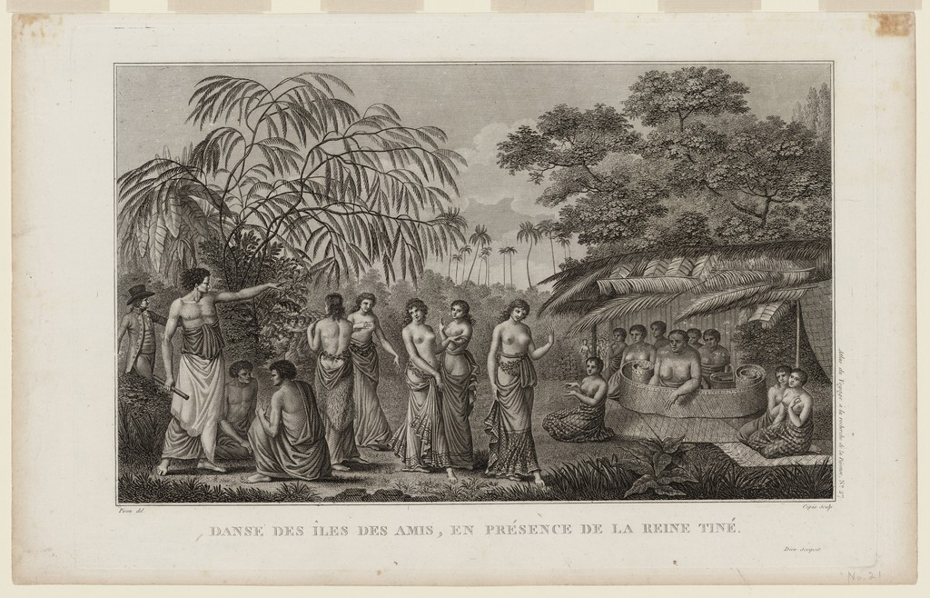 Danse des Iles des Amis en présence de la Reine Tiné (Dance of the Friendly Islands in the presence of Queen Tiné)