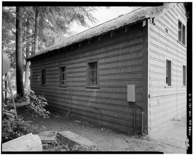 Darrington Ranger Station, Fire & Truck Storage Building, 1405 Emmens Street, Darrington, Snohomish County, WA