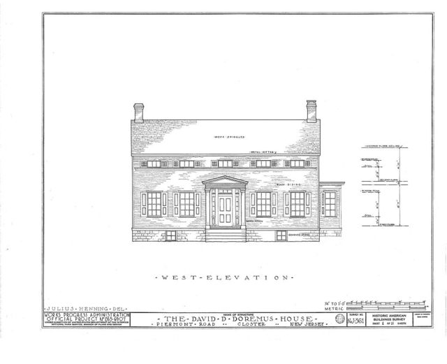 David D. Doremus House, Piermont Road, Closter, Bergen County, NJ