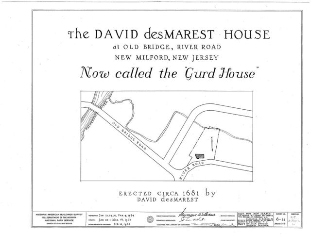David des Marest House, River Road, New Milford, Bergen County, NJ