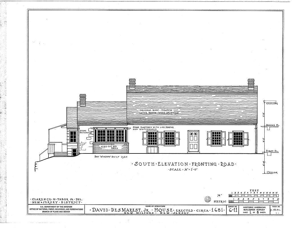David des Marest House, River Road, New Milford, Bergen County, NJ