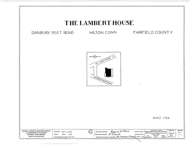 David Lambert House, Danbury Post Road, Wilton, Fairfield County, CT
