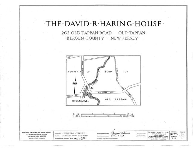 David R. Haring House, 202 Old Tappan Road, Old Tappan, Bergen County, NJ