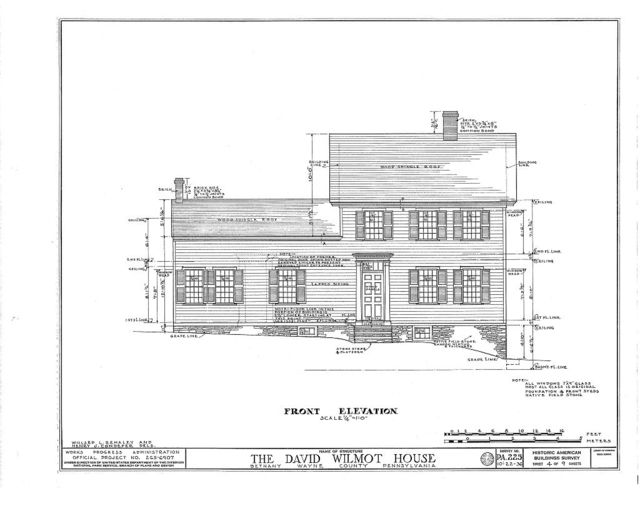David Wilmot House, Wayne Street, Bethany, Wayne County, PA