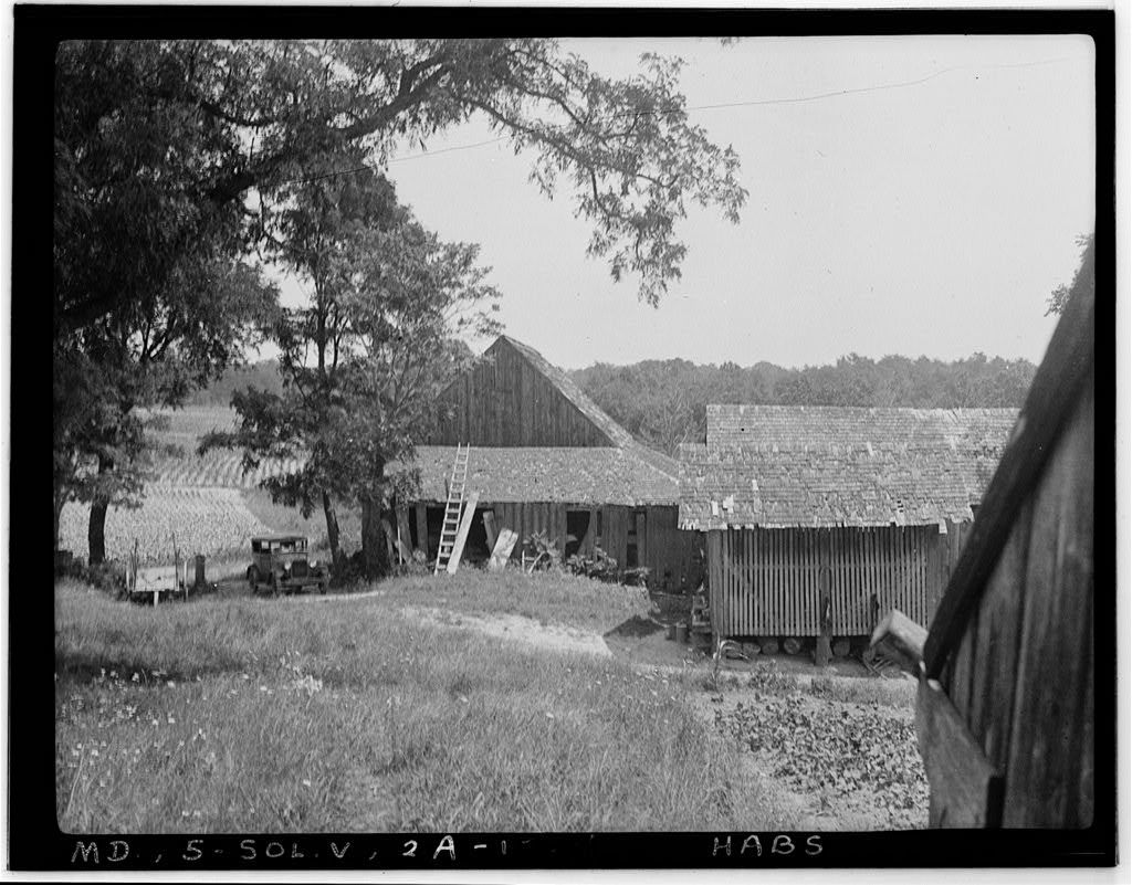 Day-Breedon House & Farm Buildings, Sollers Road, Lusby, Calvert County, MD