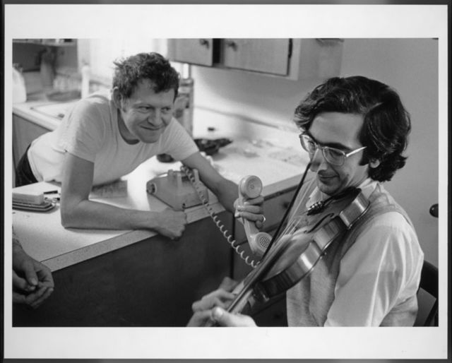 Dean Reed sharing Alan Jabbour's renditions of Henry Reed's fiddle tune repertory via telephone, Rich Creek, Virginia, November 30, 1975.