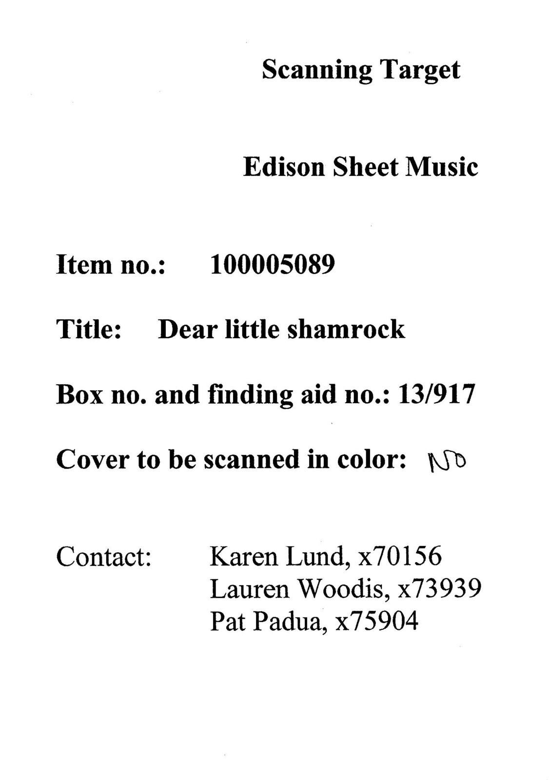 Dear little shamrock