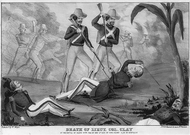 Death of Lieut. Col. Clay at the Battle of Buena Vista Feb 23d 1847 son of Hon. Henry Clay of Kentucky