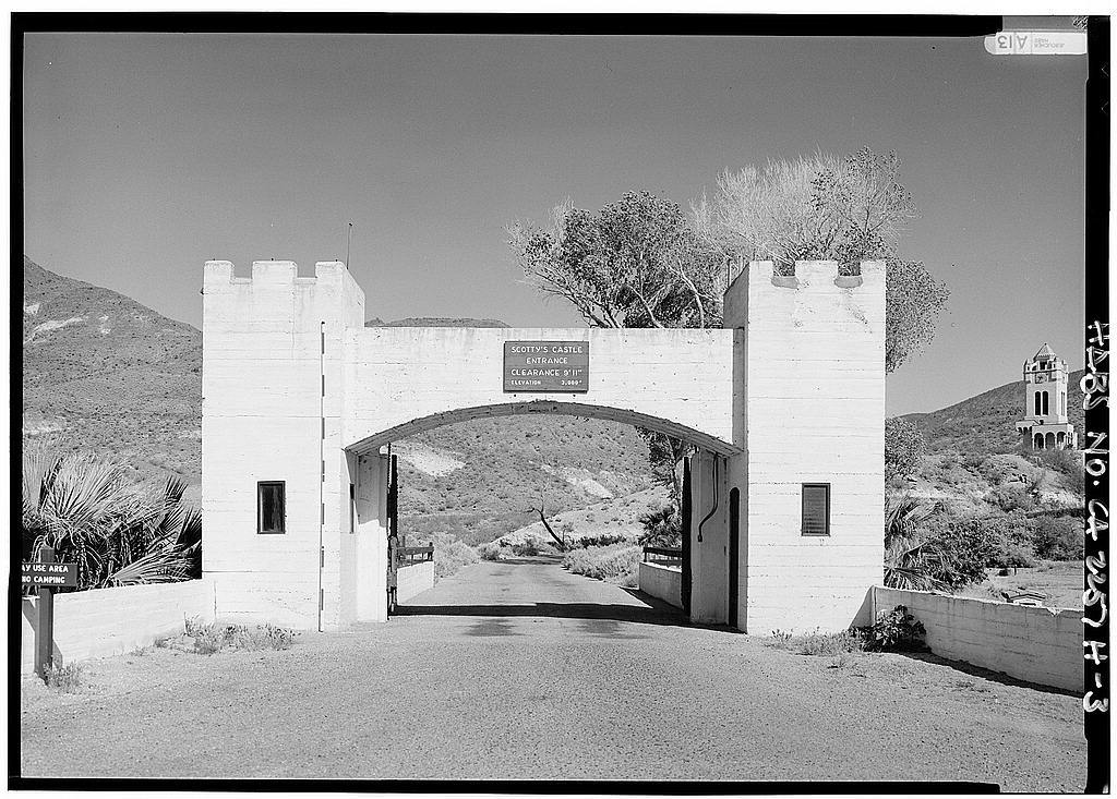 Death Valley Ranch, Entrance Gates & Dungeon Apartment, Death Valley Junction, Inyo County, CA