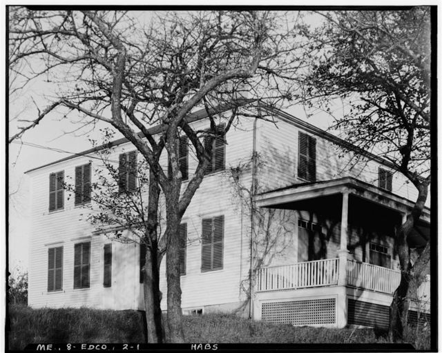 Decker-Clough House, (moved from Squam Island), Edgecomb, Lincoln County, ME