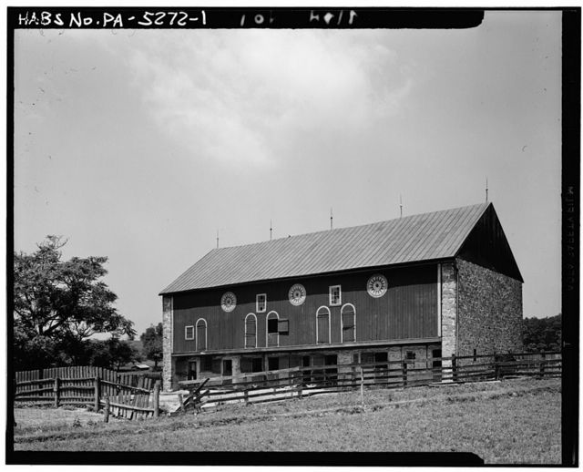 Decorated Red Barn, State Route 135, Moselem Springs, Berks County, PA