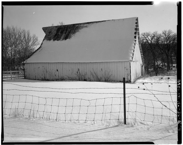 Deister Farmstead, Wood Barn, Stull, Douglas County, KS