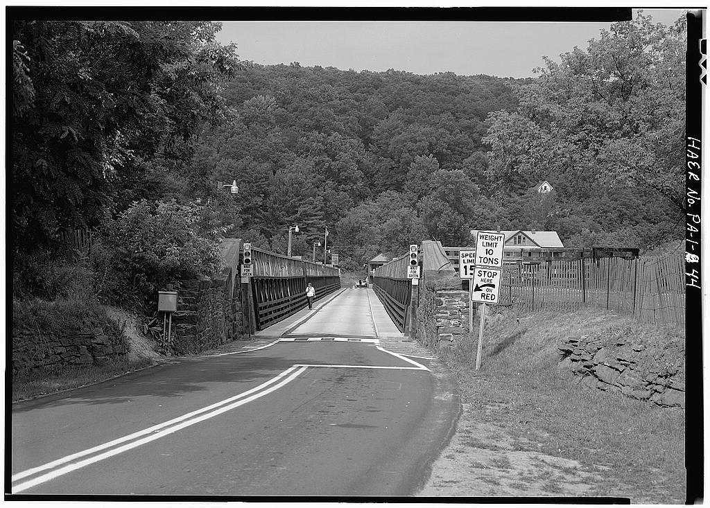 Delaware & Hudson Canal, Delaware Aqueduct, Spanning Delaware River, Lackawaxen, Pike County, PA
