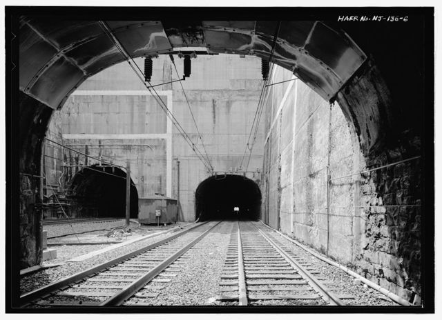 Delaware, Lackawanna & Western Railroad, North Bergen Tunnel, Through Bergen Hill from Prospect Street at Ogden Avenue to John F. Kennedy Boulevard at Beacon Avenue, Jersey City, Hudson County, NJ