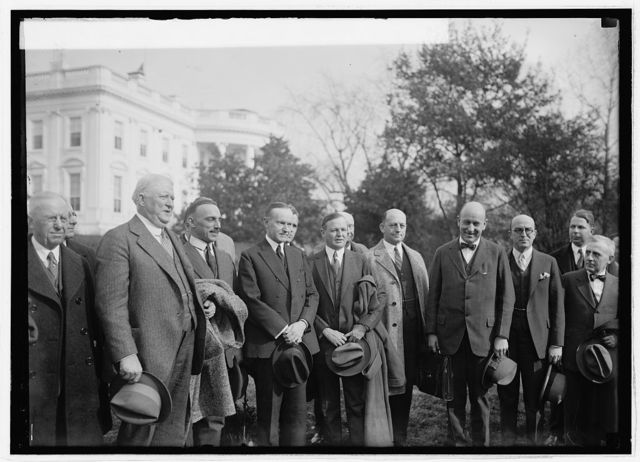 Delegates of Lumber Manufacturers Ass'n. convention with Pres. Coolidge, 11/2/24