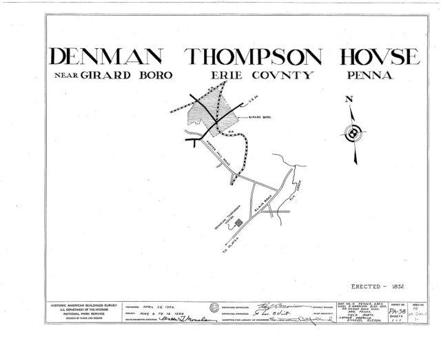 Denman Thompson House, Blair Road, Girard, Erie County, PA
