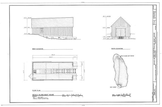 Devil's Island Light Station, Boat House, La Pointe, Ashland County, WI