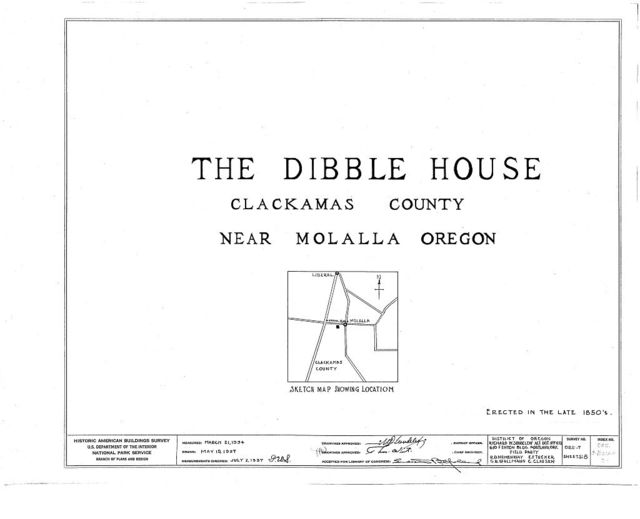 Dibble House, Molalla, Clackamas County, OR