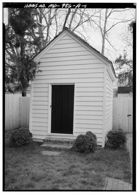 Digges-Sasscer House, Meat House, 14507 Elm Street, Upper Marlboro, Prince George's County, MD