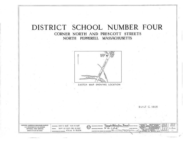 District School No. 4, North & Prescott Streets, North Pepperell, Middlesex County, MA