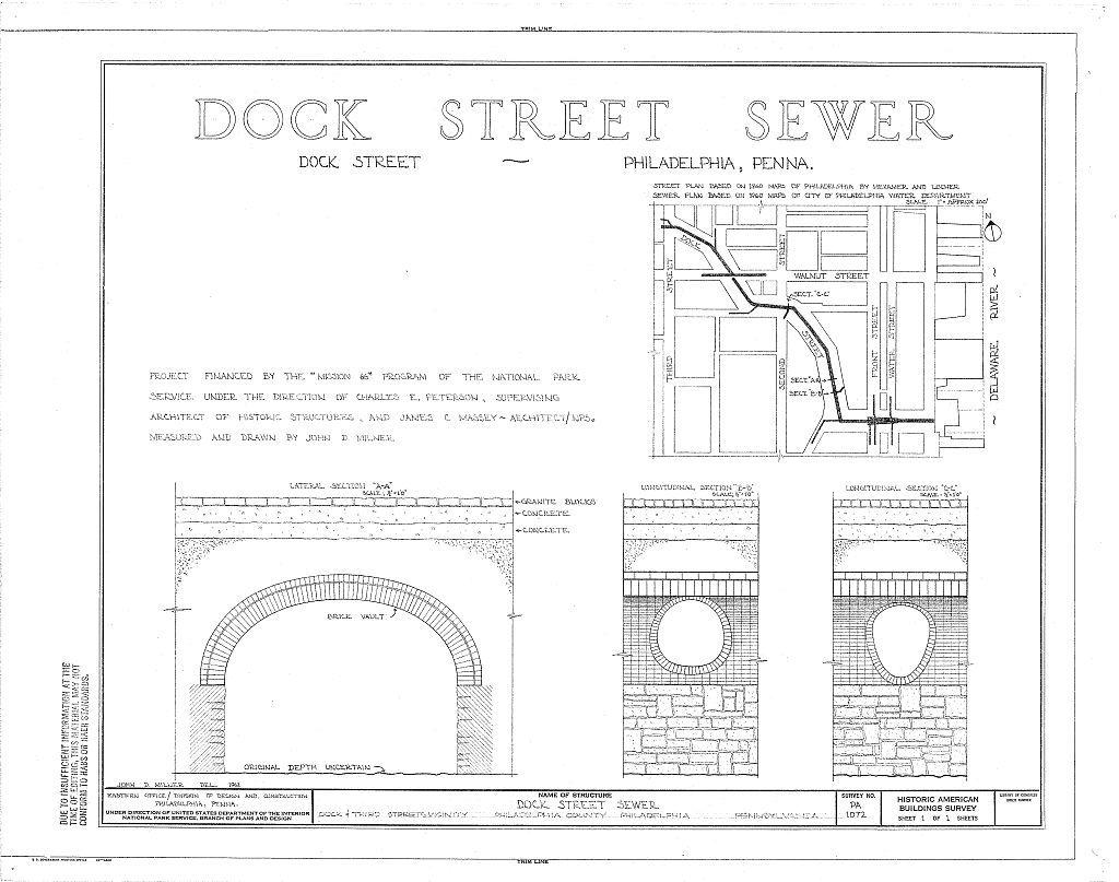 Dock Street Sewer, Dock & Third Streets vicinity, Philadelphia, Philadelphia County, PA
