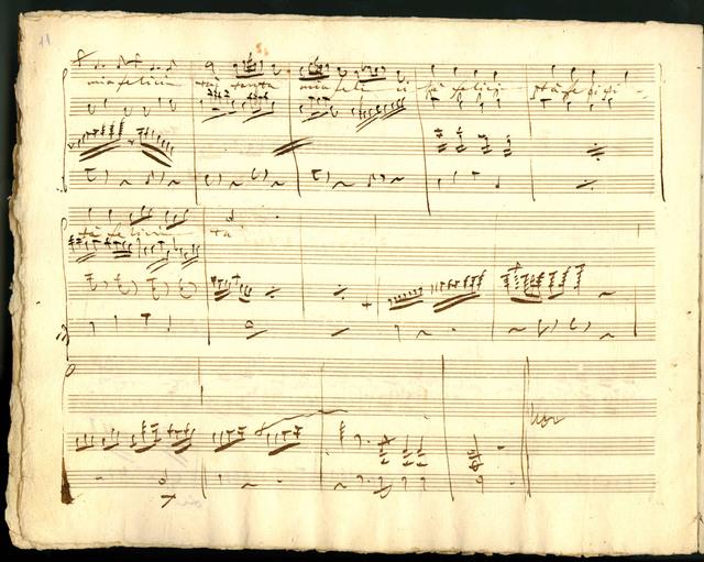 Dolci d'amor parole, for voice and violin obligato with accompaniment