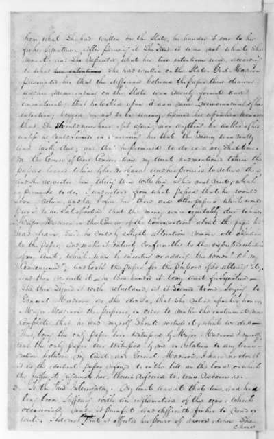 Dolley P. Madison vs. W. Madison. Fragment - Dolley P. Madison vs. William Madison Case. Annie Payne Interrogation.