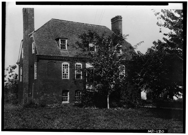 Dr. David Ross House, Annapolis Road (moved to Preservation Hill, Western Run Road, Cockeysville), Bladensburg, Prince George's County, MD