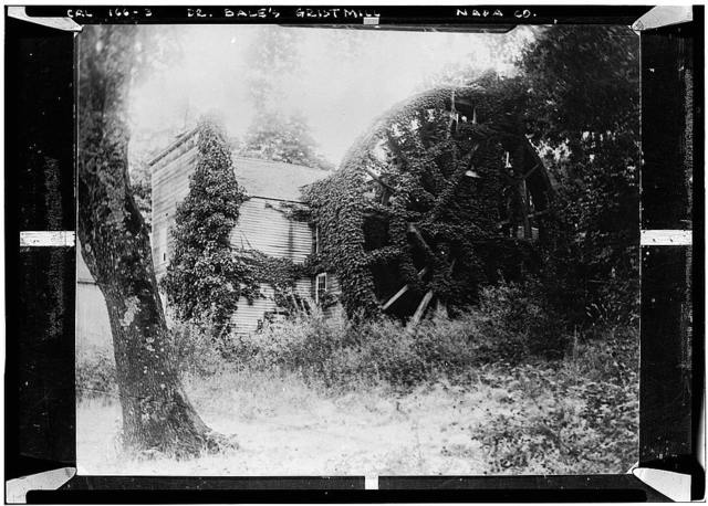 Dr. Edward Turner Bale's Grist Mill, Highway 29, Calistoga, Napa County, CA