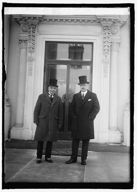 Dr. Enselio Ayala & J.B. Wright at W.H. [i.e., White House, Washington, D.C.], 1/29/25