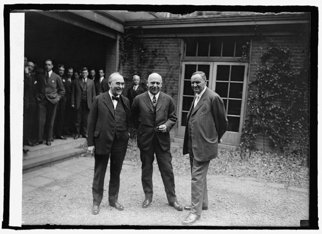 Dr. W.A. White, Ex. Sen. Stanley of Ken. and Clarence Darrow, 3/14/25