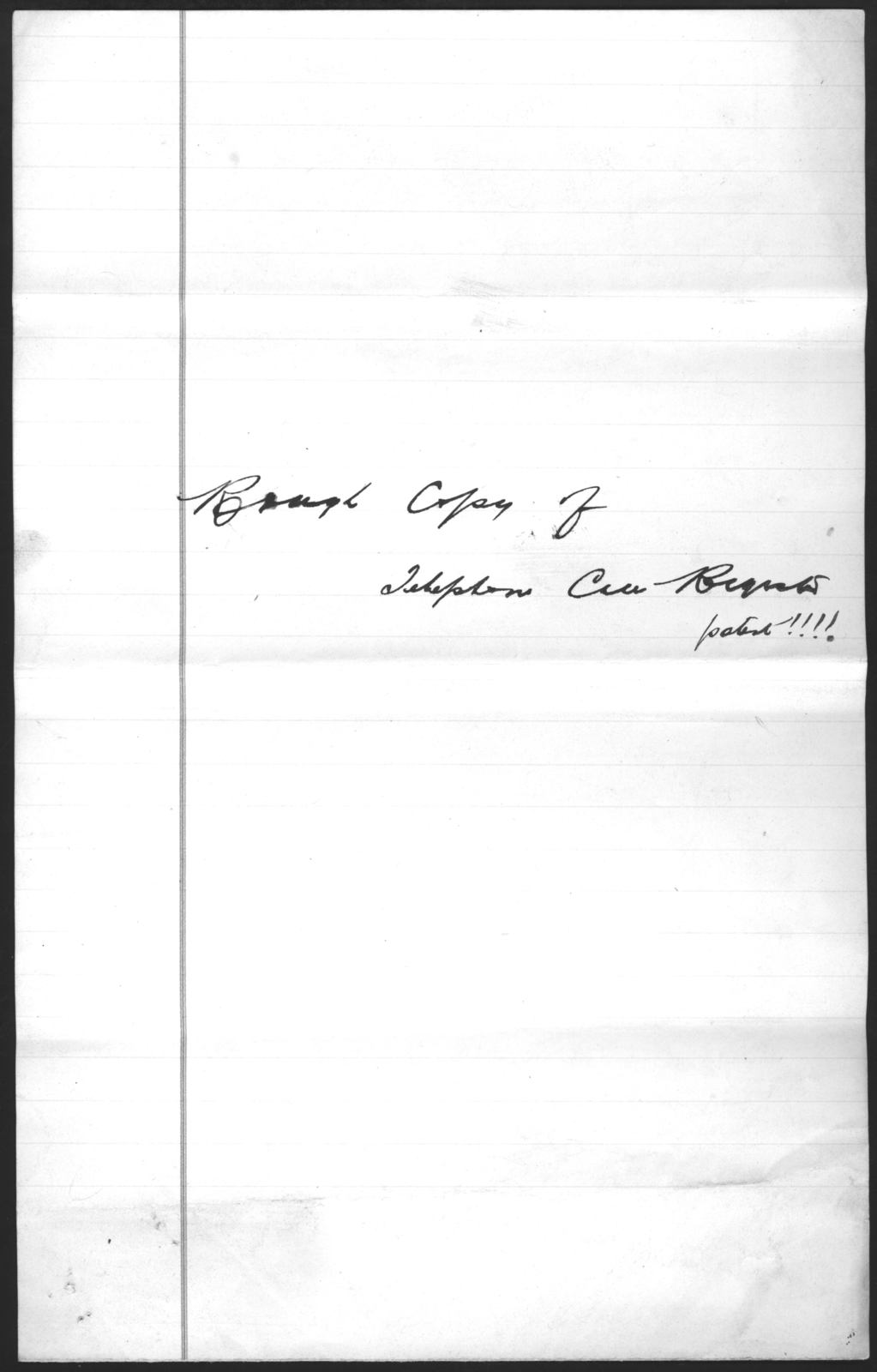 Draft application, undated