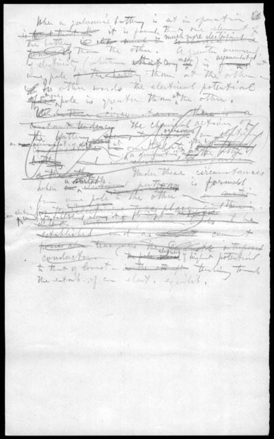 Draft letter from Alexander Graham Bell, undated