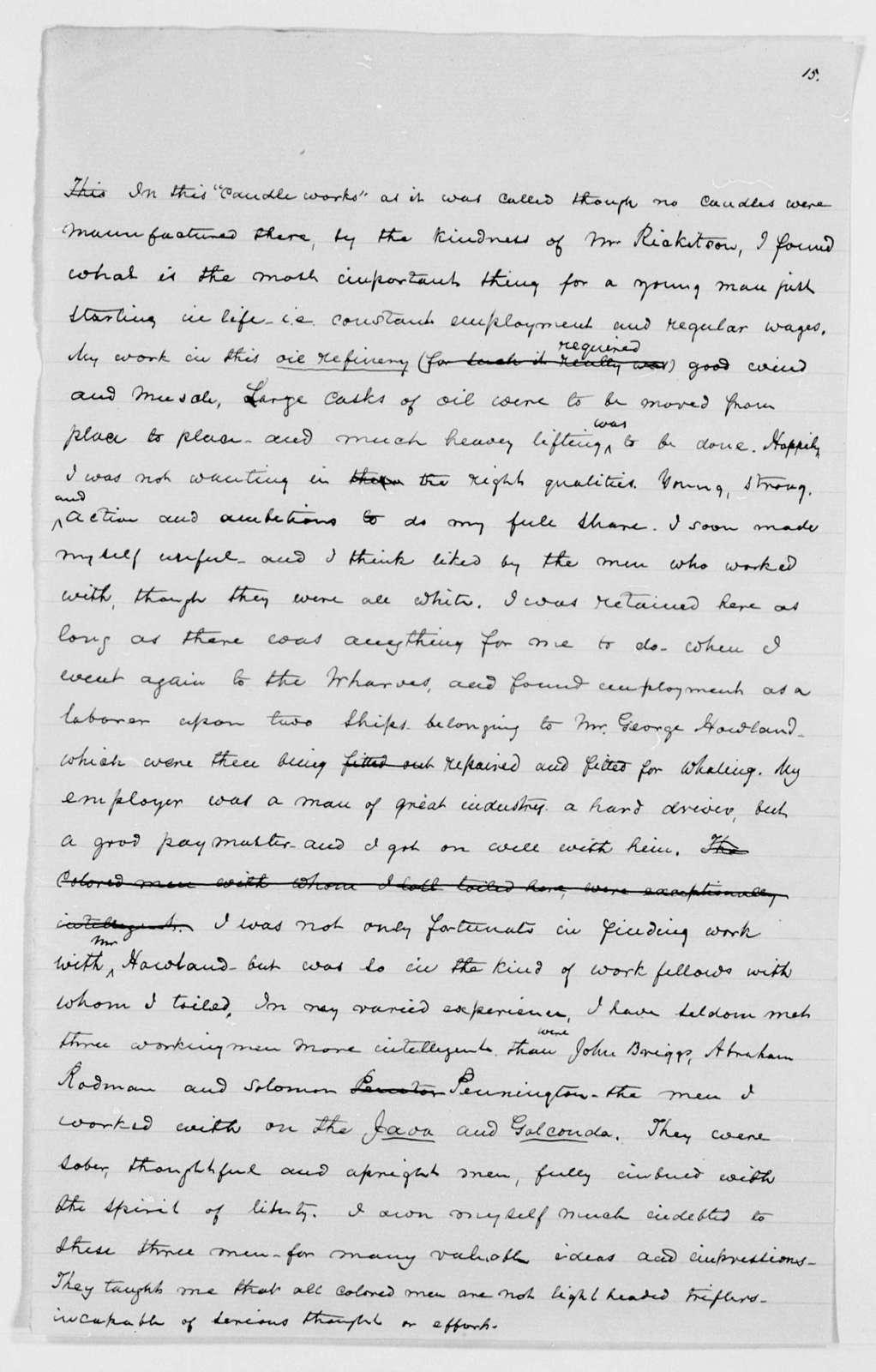 Drafts of Douglass' Autobiography - p. 261