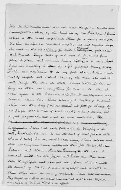 Drafts of Douglass' Autobiography - p. 261