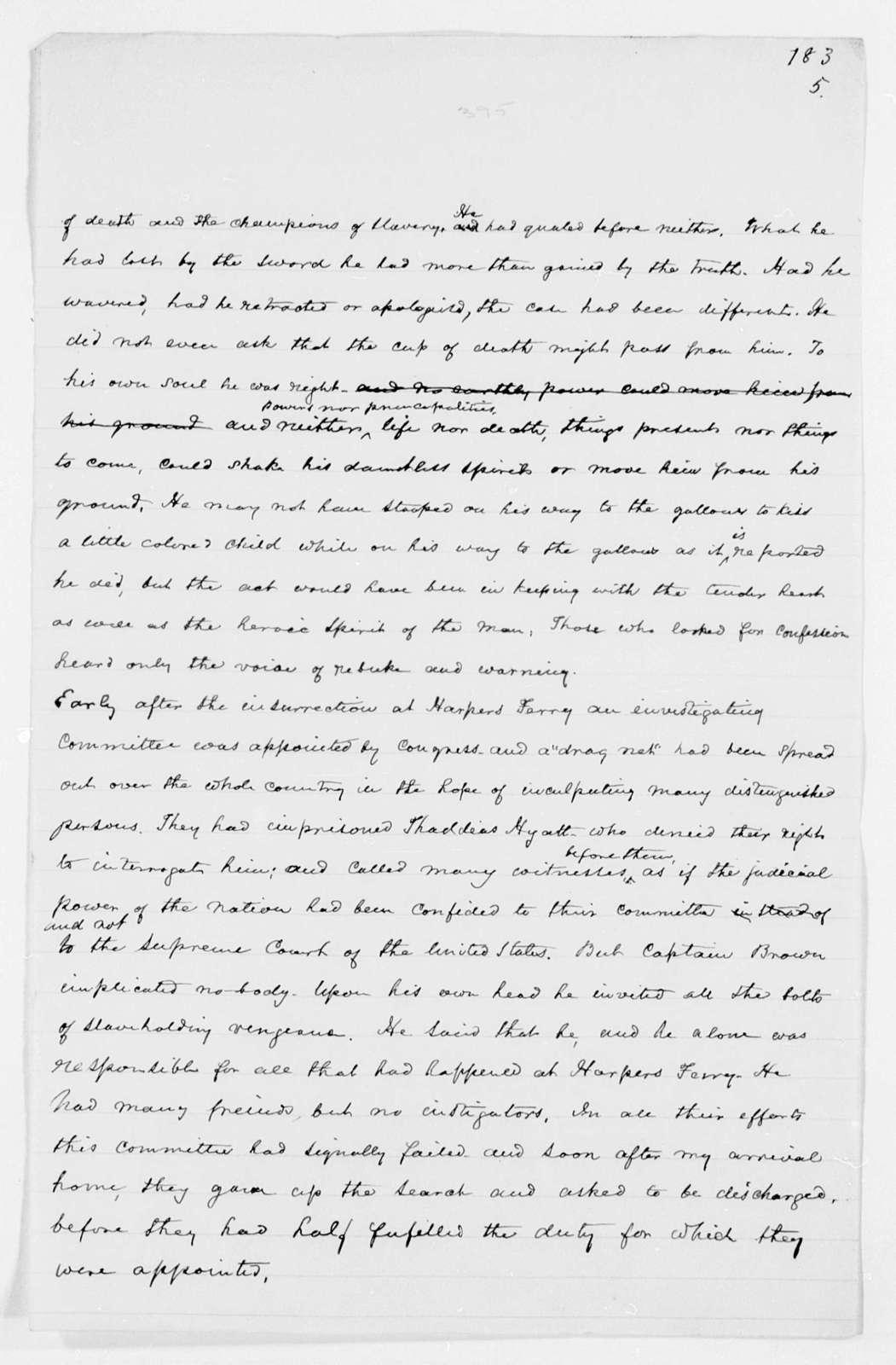 Drafts of Douglass' Autobiography - pp. 361-401