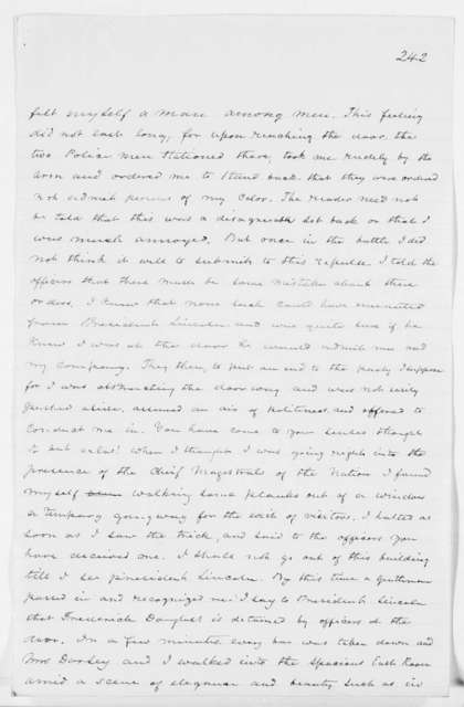 Drafts of Douglass' Autobiography - pp. 427-483, and Material Deleted from Book