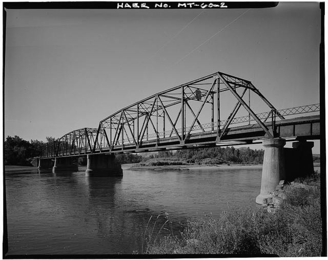 Duck Creek Bridge, Spanning Yellowstone River on Route 329, Southwest of Billings, Billings, Yellowstone County, MT