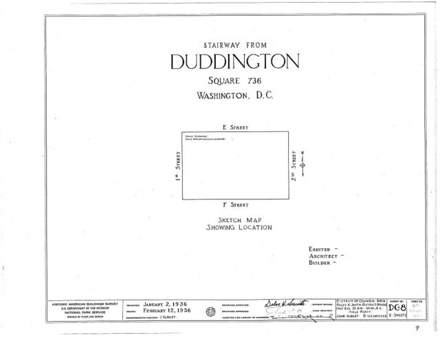 Duddington Mansion, First & Second & E & F Streets, Southeast, Washington, District of Columbia, DC