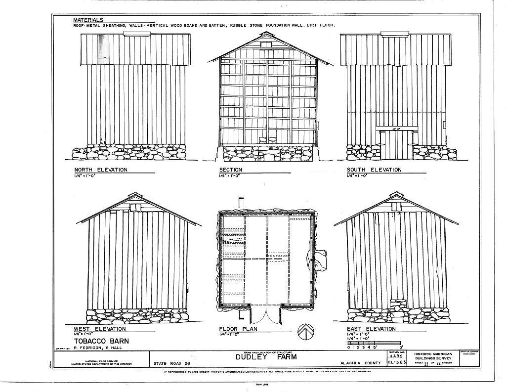 Dudley Farm, Farmhouse & Outbuildings, 18730 West Newberry Road, Newberry, Alachua County, FL