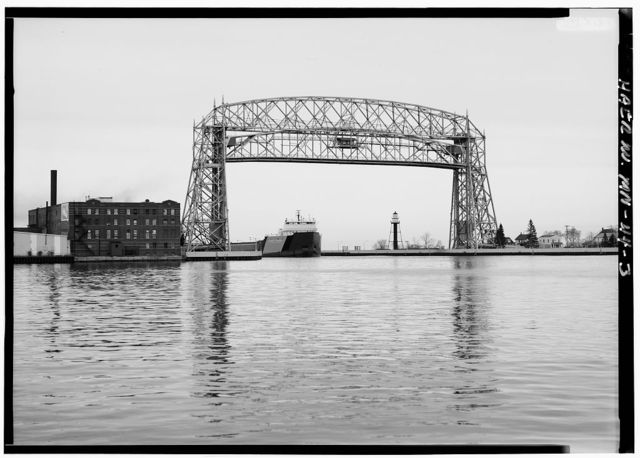 Duluth Aerial Lift Bridge, Lake Avenue, across Duluth Ship Canal, Duluth, St. Louis County, MN
