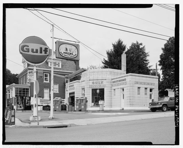 Dunkle's Gulf Station, Pitt Street, Bedford, Bedford County, PA