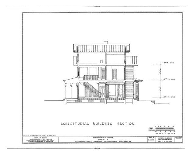Dunleith, 677 Chestnut Street, Greensboro, Guilford County, NC