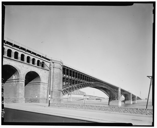 Eads Bridge, Spanning Mississippi River at Washington Street, Saint Louis, Independent City, MO