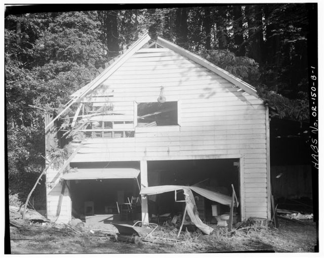 Earl Bronaugh House, Main Garage, 18121 River Road, Milwaukie, Clackamas County, OR