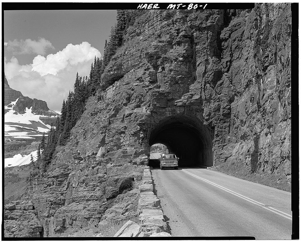 East Side Tunnel, Through Piegan Mountain at Going-to-the-Sun Road
